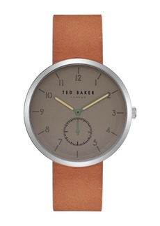 Ted Baker Men's Josh Leather Strap Watch, 40mm