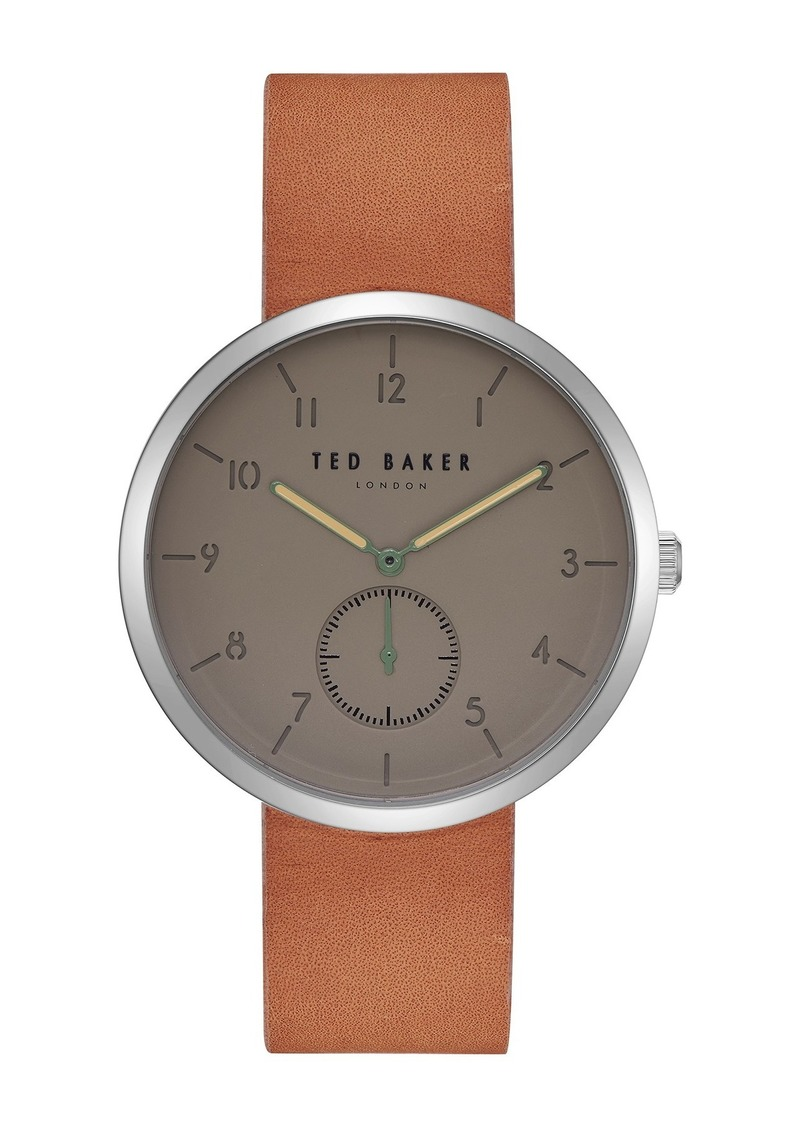 Ted Baker Men's Josh Leather Strap Watch, 40mm