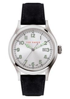 Ted Baker Men's Lngisla Suede Strap Watch, 42mm