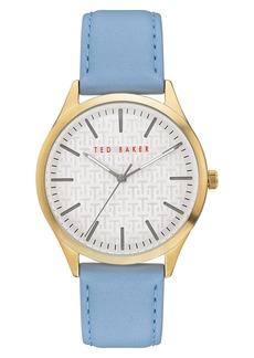 Ted Baker Men's Manhattan Leather Strap Watch, 40mm