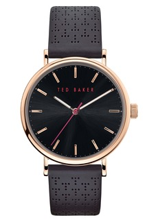 Ted Baker Men's Mimosaa Leather Strap Watch, 41mm