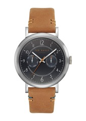 Ted Baker Men's Multifunction Leather Strap Watch, 41mm
