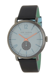 Ted Baker Men's Oliver Leather Strap Watch, 44mm