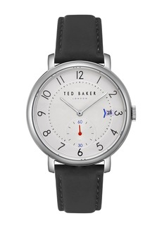 Ted Baker Oscar Leather Strap Watch & Mesh Strap Gift Set, 43mm