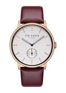 Ted Baker Men's Quartz Leather Strap Watch, 43mm