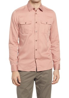 Men's Ted Baker London Actor Solid Button-Up Shirt