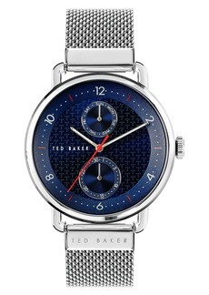 Men's Ted Baker London Brixam Multifunction Mesh Strap Watch