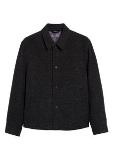 Men's Ted Baker London Carabin Check Wool & Cotton Blend Jacket