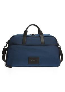 Men's Ted Baker London Legally Nylon Holdall Duffle Bag - Blue