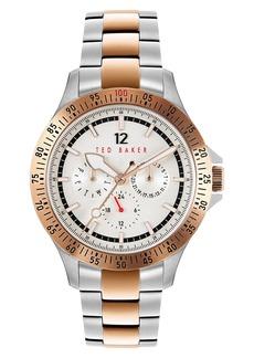 Men's Ted Baker London Northn Two-Tone Bracelet Watch
