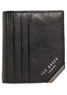 Men's Ted Baker London Peek Corner Detail Leather Wallet - Black