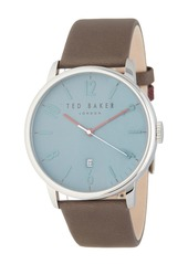 Ted Baker Men's Thomas Leather Strap Watch, 42mm