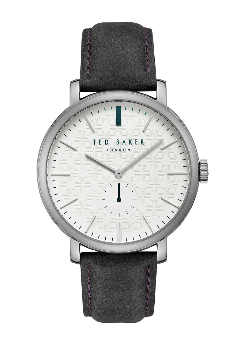 Ted Baker Men's Trent Leather Strap Watch, 44mm