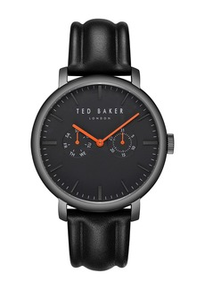 Ted Baker Men's Trent Leather Strap Watch, 43mm