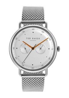 Ted Baker Men's Multifunction Mesh Bracelet Watch, 40mm
