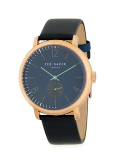 Ted Baker Multifunction Stainless Steel & Leather-Strap Watch
