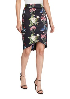 Ted Baker Oracle Floral Print Pencil Skirt
