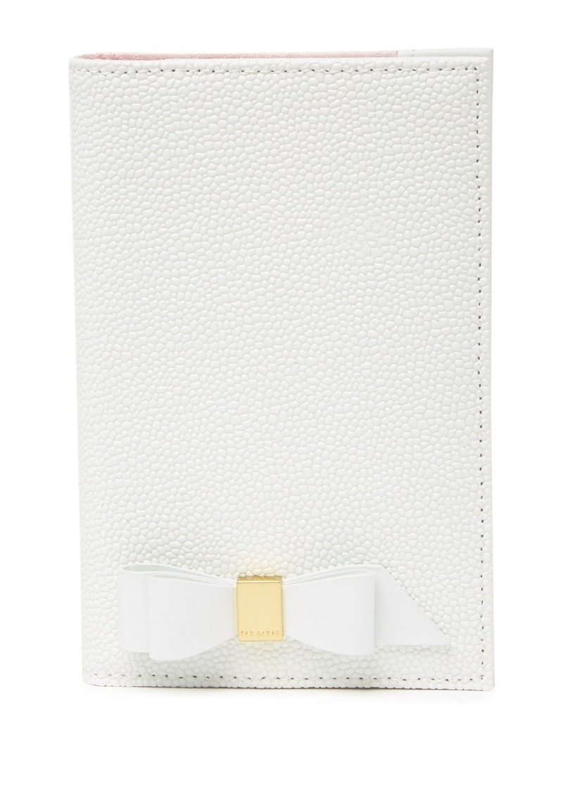 Ted Baker Peyten Bow Leather Passport Holder
