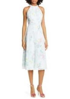 Ted Baker Pinkee Sorbet Lace Trim Halter Midi Dress