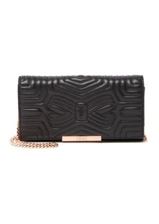 Ted Baker Pip Quilted Bow Leather Crossbody Bag