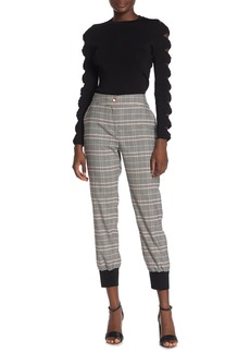 Ted Baker Plaid Banded Cuff Joggers