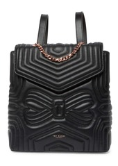 Ted Baker Quilted Bow Leather Backpack