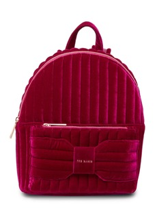Ted Baker Bow Detail Velvet Backpack
