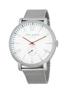 Ted Baker Round Stainless Steel Mesh Bracelet Watch