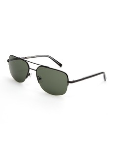 Ted Baker Semi Rimless Metal Navigator Sunglasses