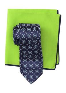 Ted Baker Silk Alternating Dot Tie & Pocket Square Set