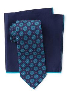 Ted Baker Silk Blooming Flower Tie & Pocket Square Set