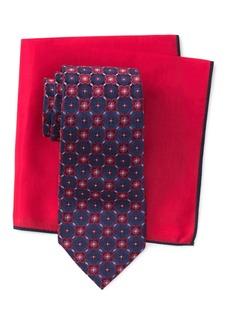 Ted Baker Silk Connect Flower Tie & Pocket Square Set