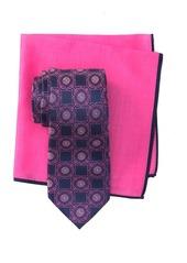 Ted Baker Silk Connect Medallion Tie & Pocket Square Set