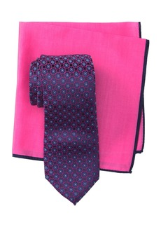 Ted Baker Silk Flower Link Tie & Pocket Square Set