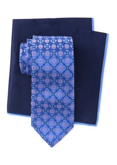 Ted Baker Silk Flower Medallion Tie & Pocket Square Set
