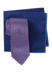 Ted Baker Silk Melange Geo Flower Tie & Pocket Square