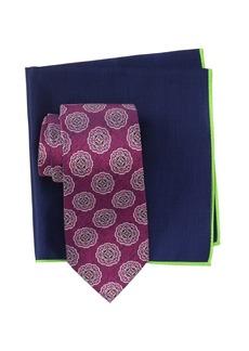 Ted Baker Silk Melange Medallion Tie & Pocket Square Set