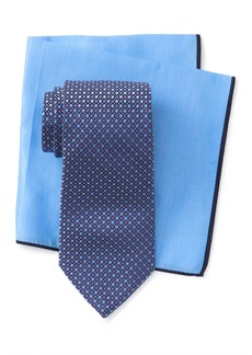 Ted Baker Silk Micro Square Tie & Pocket Square Set
