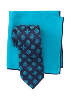 Ted Baker Silk Spaced Medallion Tie & Pocket Square Set