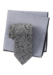 Ted Baker Silk Tonal Paisley Tie & Pocket Square Set