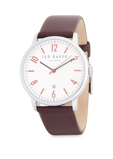 Ted Baker Stainless Steel Case, Strap Watch