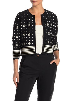 Ted Baker Star Stripe Scalloped Hem Cardigan