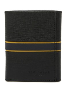Ted Baker Striped Leather Trifold Wallet