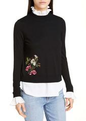 Ted Baker Syamata Oracle Mock 2-Piece Sweater