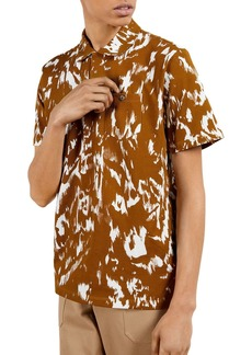 Ted Baker Abstract Print Piqu� Polo