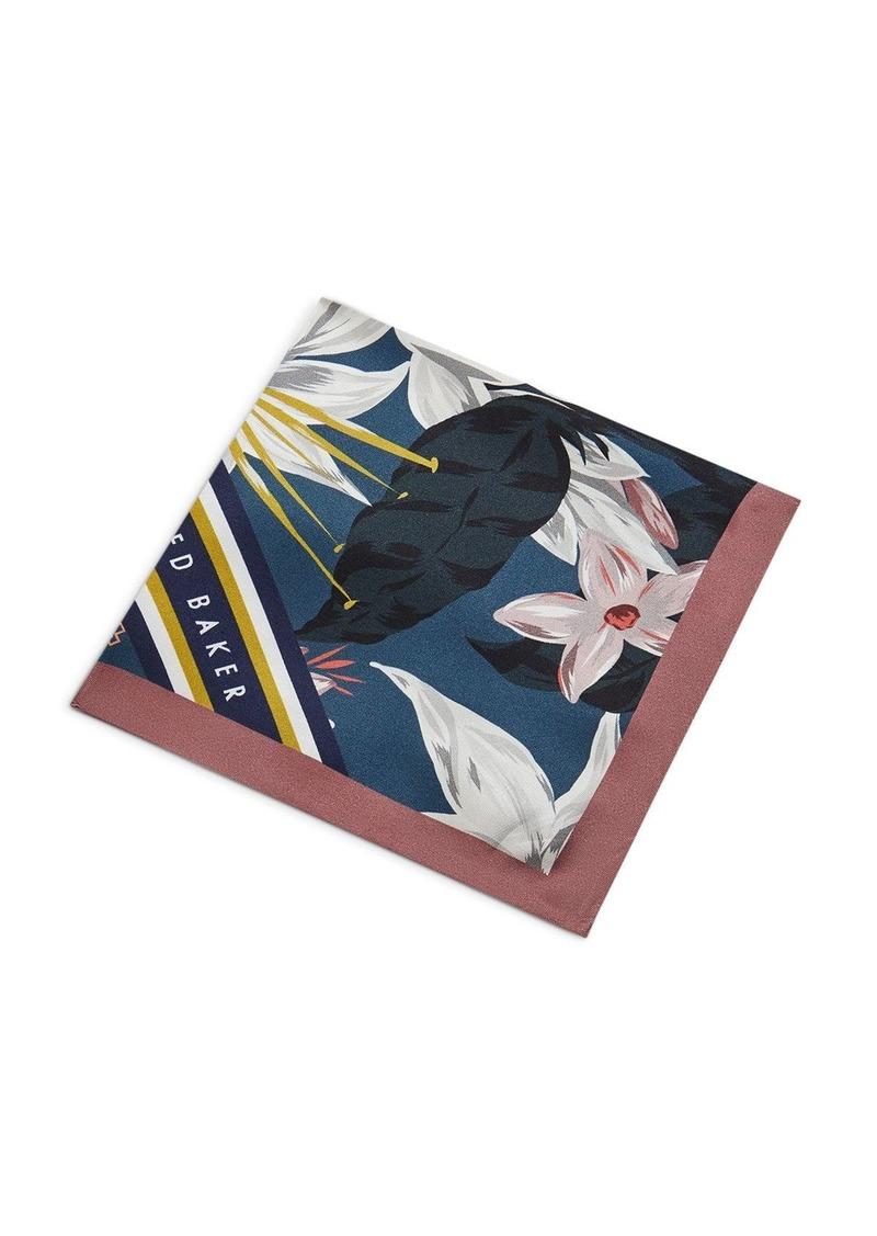 Ted Baker Afton Floral Geo Print Pocket Square