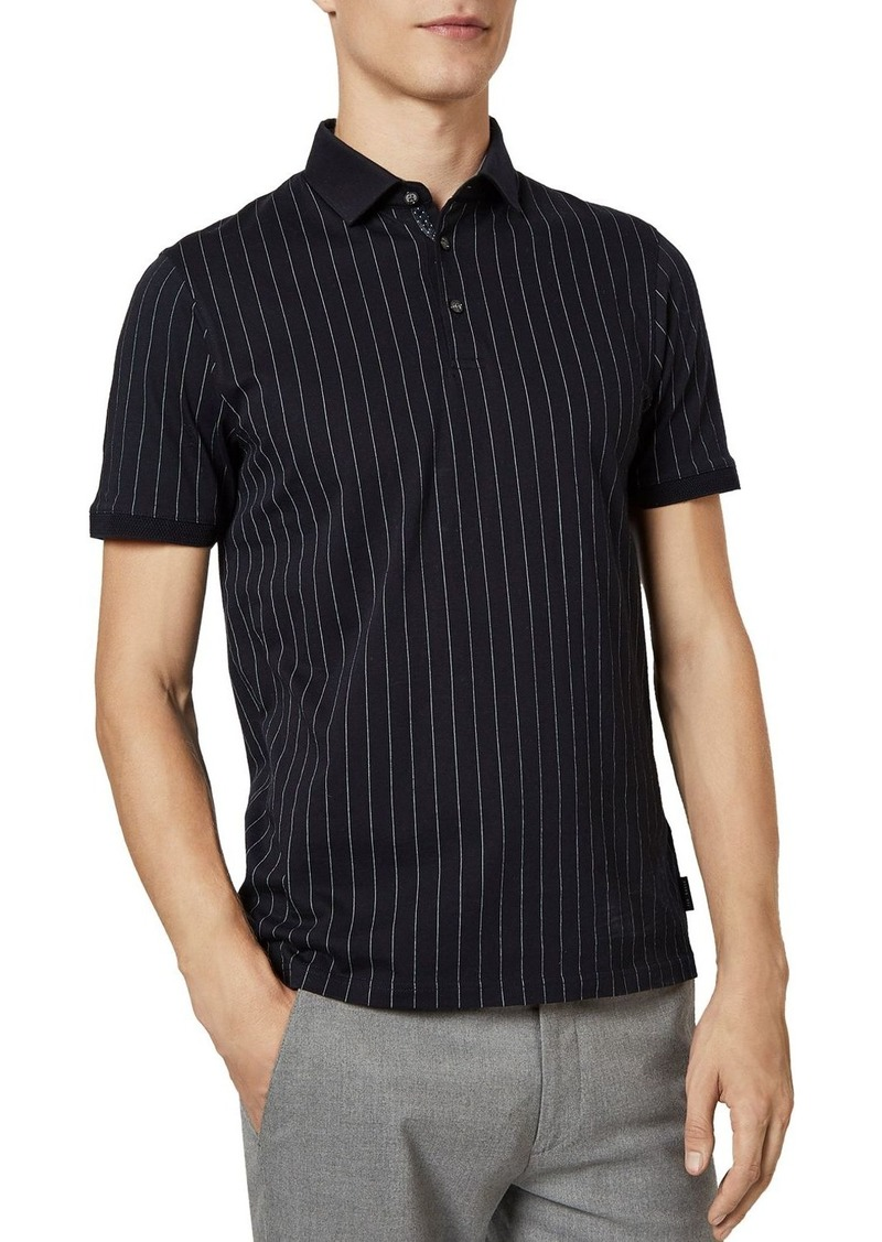 Ted Baker Airflow Striped Polo Shirt