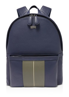 Ted Baker Breads Striped Leather Backpack