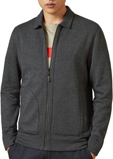 Ted Baker Cinmon Zip-Front Layering Knit Jacket - 100% Exclusive