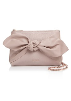 Ted Baker Darnna Knot Detail Medium Leather Crossbody